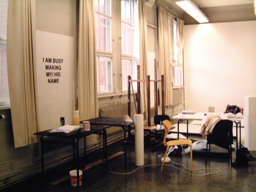 Hanne Mugaas: I am busy making my/his name
