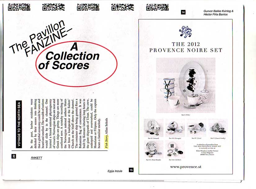 Front page of The Pavillon Fanzine A Collection of Scores (2012)