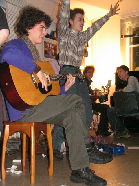 Performers of Murmansk Rock Club live in Murmansk (2005)