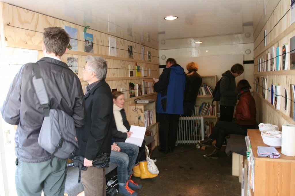 Visitors in the archive. Rakett presents Curating Degree Zero Archive in Bergen (2007). Photo: Rakett