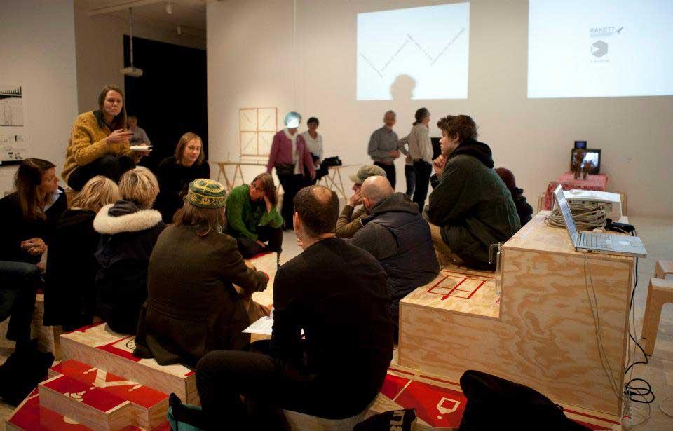 Presentation and talk 'City as Narrative' by Expodium and Rakett, at Bildmuseet 2013.