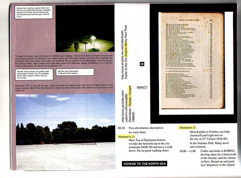 Last page of The Pavillon Fanzine A Collection of Scores (2012)