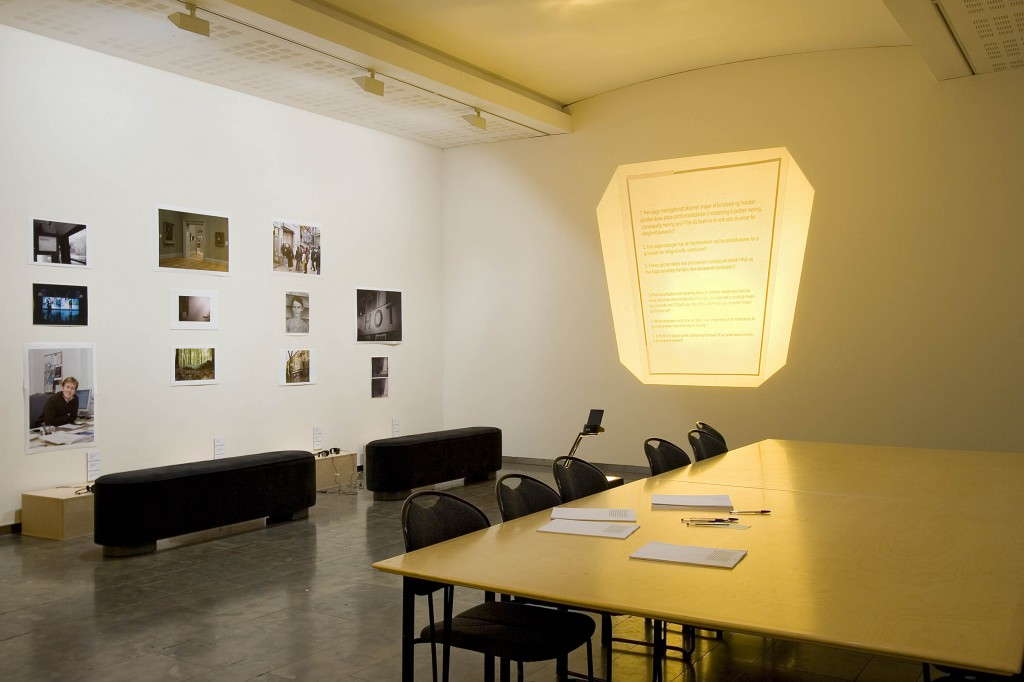 Exhibiton view, Investigation of a Model of Influence (2008). Photo: Anders Valde
