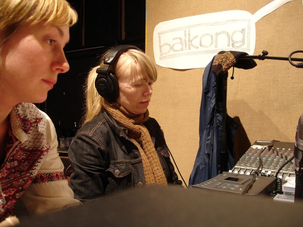 Åse Løvgren and Søssa Jørgensen live at Radio Kongo - Studio Stand (2007).  Photo: Rakett