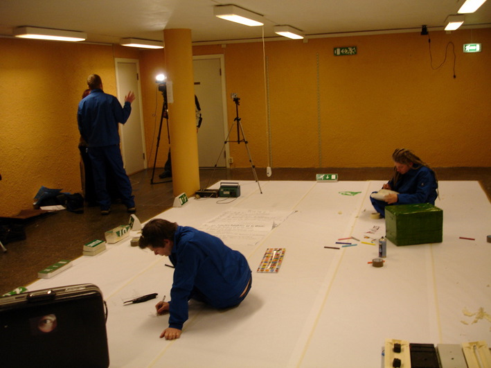 Day 1: 'An Everyday Improvement' occupied the entrance hall of the public library (2006)