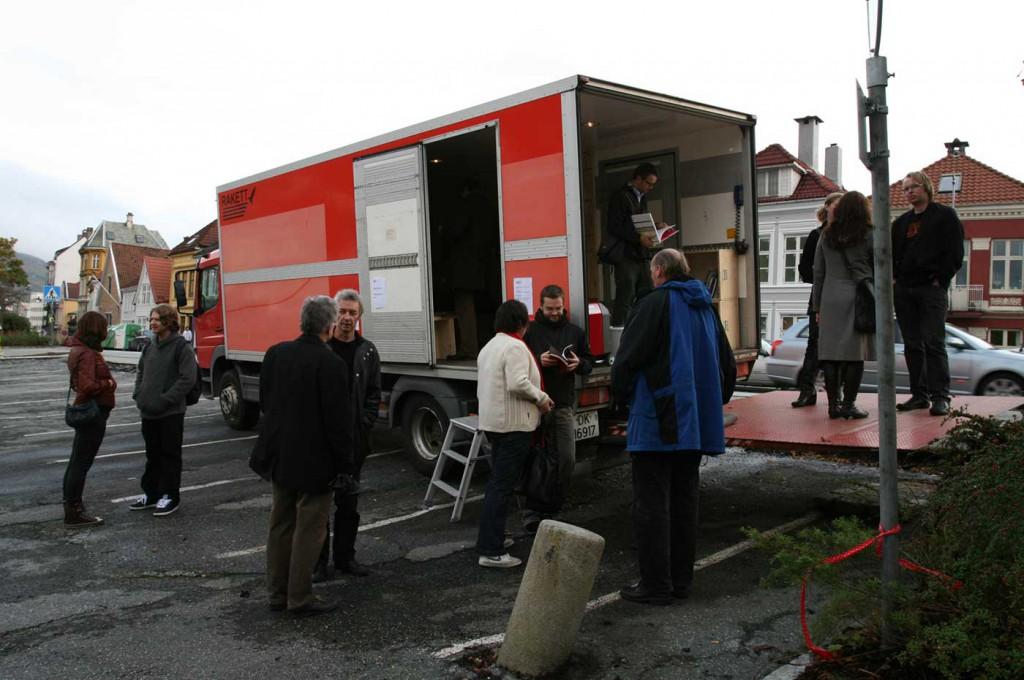 Outside view, Location: Klosteret, Rakett presents Curating Degree Zero Archive, 2007. Photo: Rakett