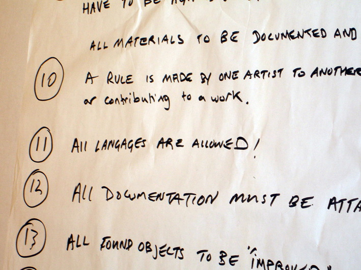 Day 2: Detail of rules made for 'An Everyday Improvement', Kirkenes (2006)