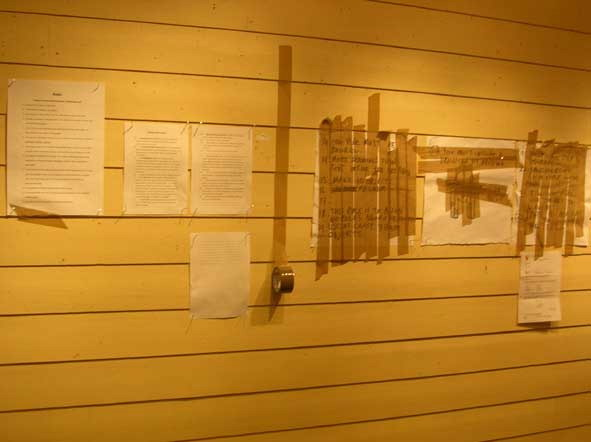 Day 2: Wall of rules made for 'An Everyday Improvement', Kirkenes (2006)