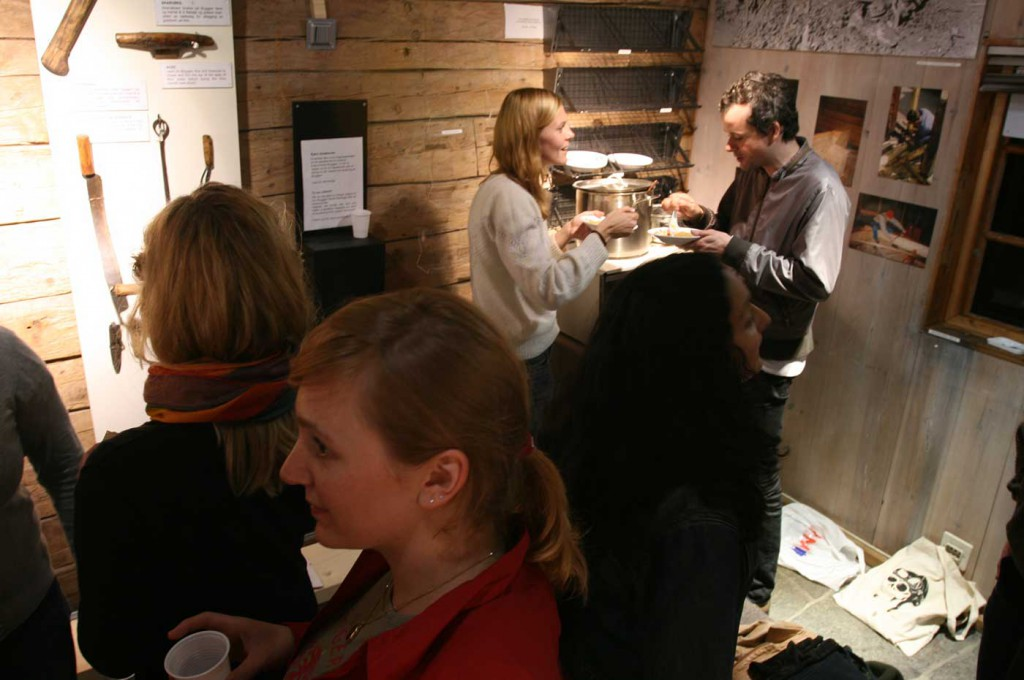 Cooking Degree Zero, location: Bryggen. Curating Degree Zero Archive in Bergen, 2007. Photo: Rakett