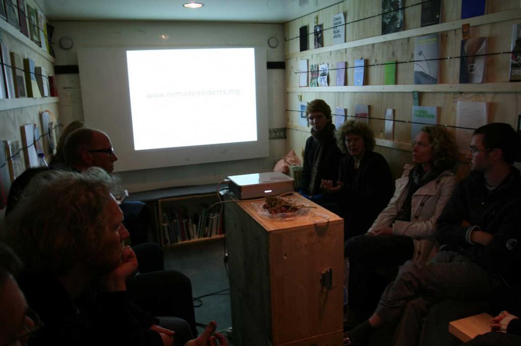 Talk by Bik Van der Pol. Part of Curating Degree Zero Archive in Bergen. Photo: Rakett